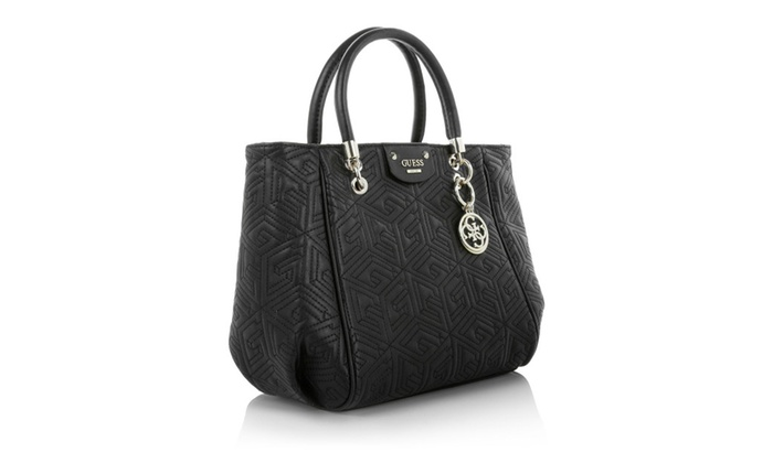 268566afe14 Guess cube abbey quilted convertible shopper bag handbag purse