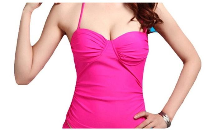 Women's Casual Adjustable Neck and Back Ties Bikini Sets