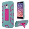 Insten Hybrid Hard Case For Alcatel One Touch Fierce XL Teal/hot Pink