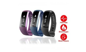 Fitness Tracker Water Resistant with Heart Rate & Blood Pressure Monitor