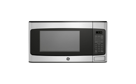 GE 1.1 Cu. Ft. Countertop Microwave Oven, Stainless Steel photo