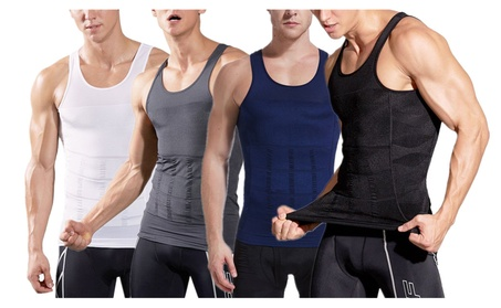 Mens Body Shaper Slimming Vest Shirt Compression Muscle Tank 22435cc7-d423-4113-8b80-2abb27449871