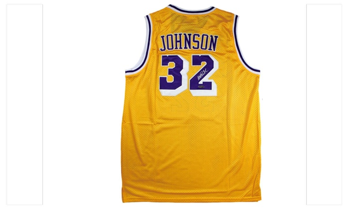 new product 133f2 19307 Autographed Magic Johnson Los Angeles Lakers Jersey