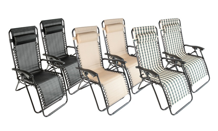 Apontus (2) Zero Gravity Folding Recliner Lounge Chairs ...