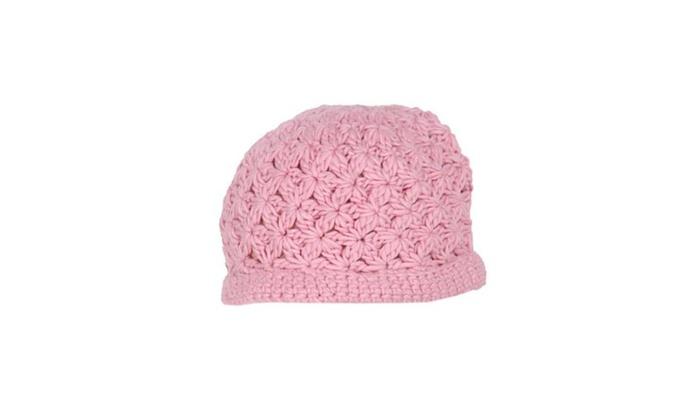 Women's Braid Single Layer No Brim Woollen Hat - Baby pink / One Size