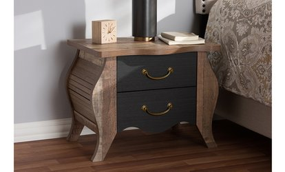 Shop Groupon Romilly Country Cottage 2 Drawer Nightstand