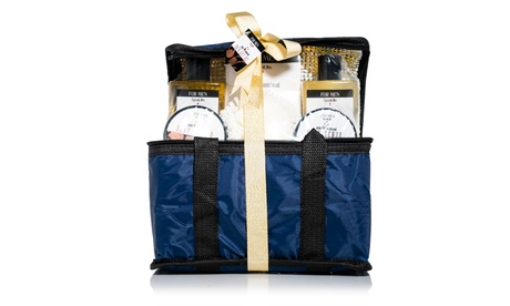 All Natural Bath and Body Luxury Men's Spa Gift Set Basket
