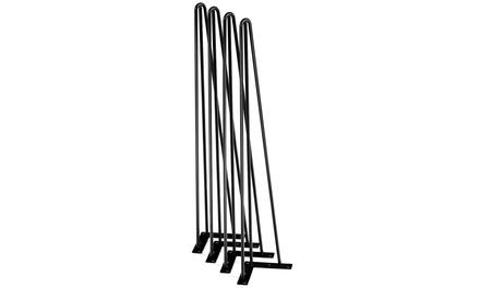 "Set of 4 Hairpin 16"" /28"" Coffee Table Legs 2-Rod Solid Iron Metal DIY"