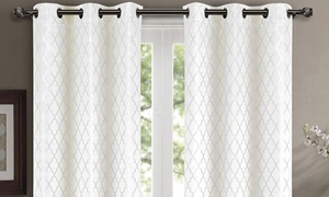 Pair ( Set of 2) Willow Thermal-Insulated Blackout Curtain Panels