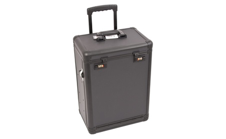 Black Dot Pattern Rolling Makeup Case with Drawers And Numlock C6000 17104e30-9c9b-41ea-96ff-0c1f8f9e354a