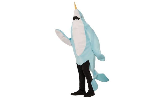 Plush Narwhal Adult Mascot Costume