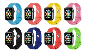 "Soft Silicone Sports Band 38"" or 42"" for Apple Watch"