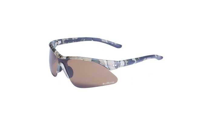 BluWater Semi Rimless Camo Frame with Brown Polarized Lens