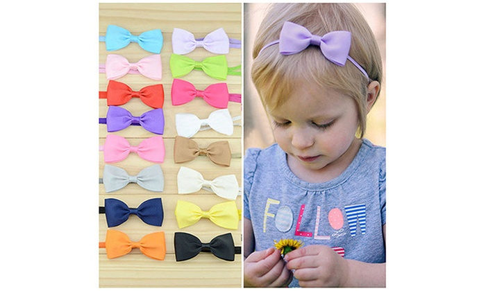1//10X Kids Baby Toddler Infant Bow Headband Hair Band Accessories Headwear