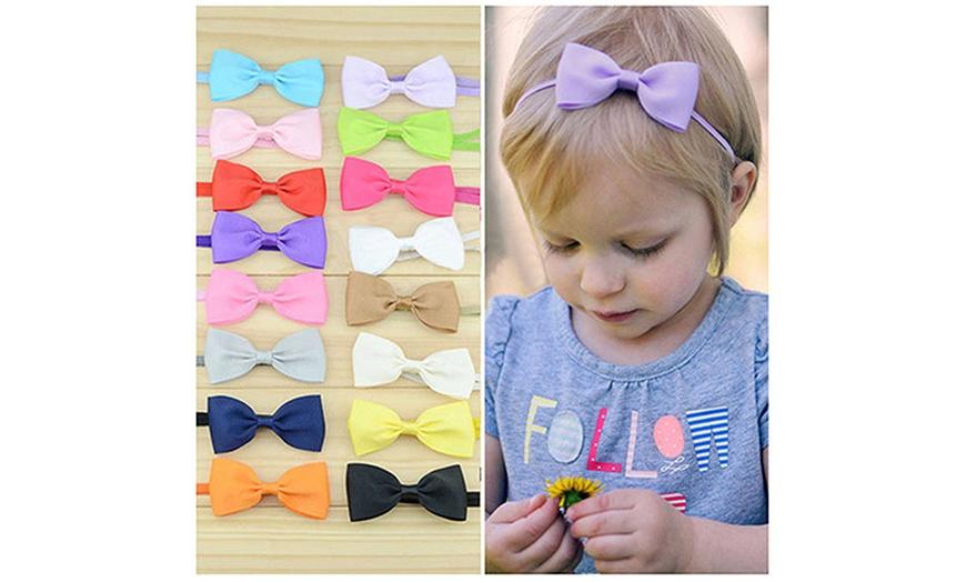 baby headpieces Headband baby girl bow headdress hair bow headband baby girl head band 3 inch hair bow headband baby head wear