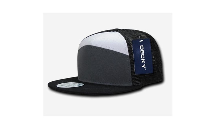 2f8e3409669d1 Decky 1133-CHAWHTBLK 7 Panel Trucker Caps - Charcoal   White Black Black  Label Acrylic original.jpg