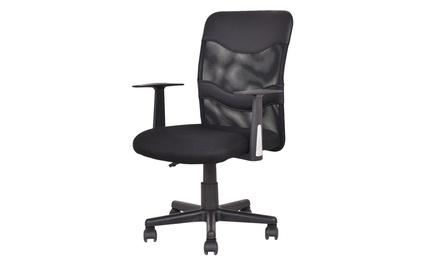 Mid-Back Executive Computer Desk Task Office Chair Ergonomic Black