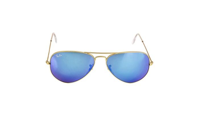 Ray Ban 3025 112 17 Gold Frame Blue Mirror Lenses 58mm