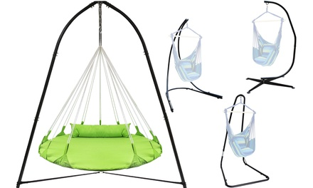 Sorbus Hammock Chair Stand for Hanging Swings, Loungers - Indoor and Outdoor Use