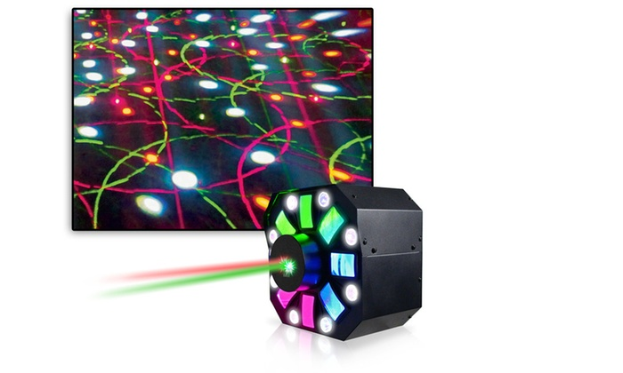 Professional DJ Multi Pattern Laser & LED Stage Effect Light with DMX