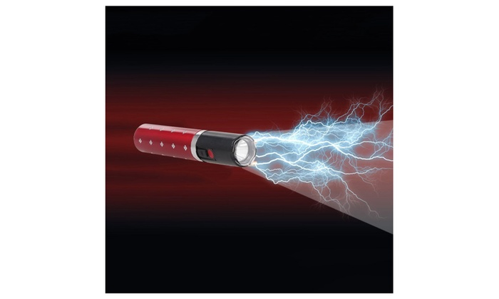 Mini Lipstick Self Defense Electric Shock Stun Gun LED Flashlight