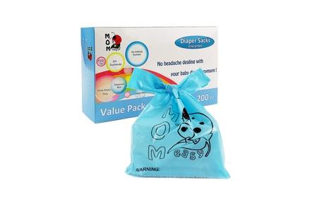 Mom Easy Easy-Tie 200 Counts Baby Disposable Diaper Sacks/Diaper Bags 49997680-16aa-4486-9afb-b9afa9de6dc2