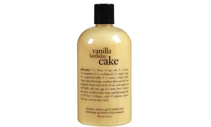 Cool Philosophy Vanilla Birthday Cake Shower Gel 16 Oz 480Ml Groupon Funny Birthday Cards Online Ioscodamsfinfo
