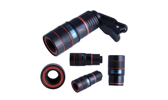 Clip on 12x optical zoom hd telescope camera lens for iphone samsung