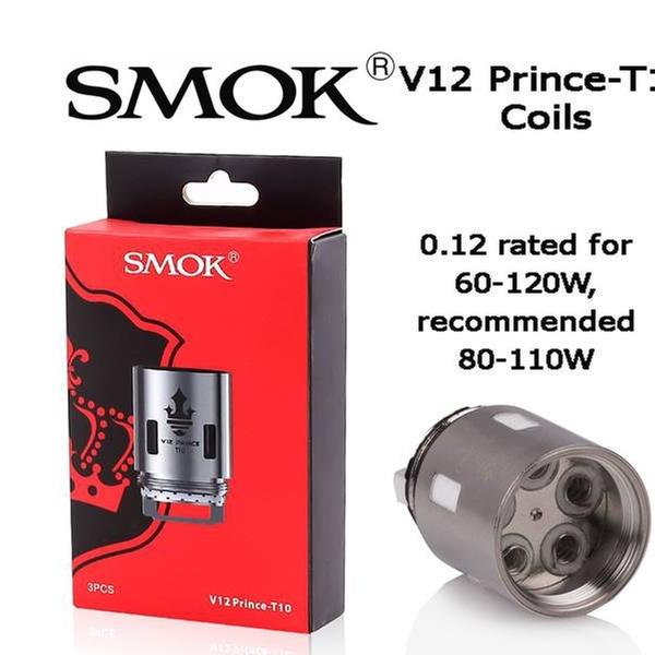 Smok V12 Prince T10 Coils For Tfv12 Prince Tank Replacement Coils 3 Pk Groupon