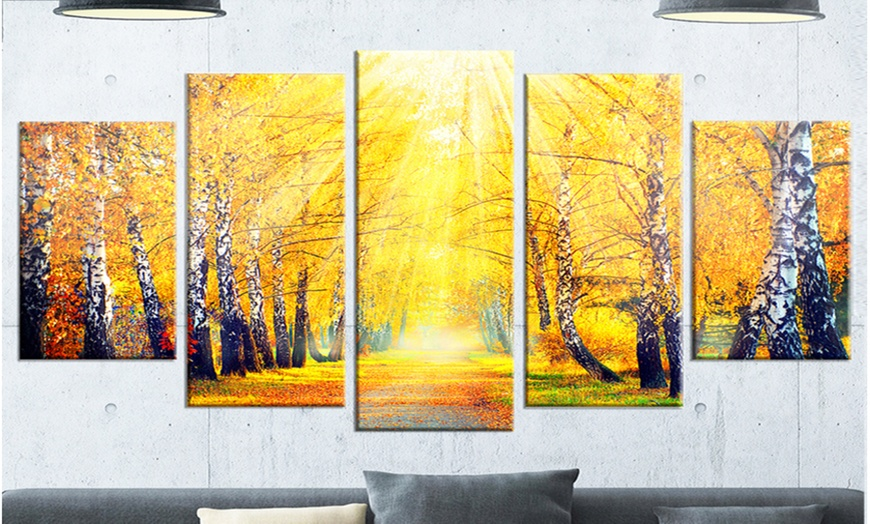 Up To 14 Off On Yellow Autumn Trees In Sunray Groupon Goods