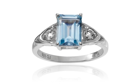 Journee Collection Sterling Silver Topaz 3-stone 1 4/5 ct Ring e437273e-d1d5-4985-a5b2-ca35768c1cd5
