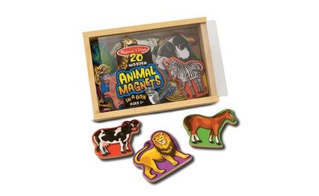 Melissa Doug Wooden Animal or Dinosaur Magnets 7a44906b-b442-4c5c-ad09-65fd76f7da91