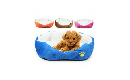 Pet Dog Puppy Cat Soft Fleece Warm Nest Bed Plush Pad Beds 24c7246e-a66f-499d-aa33-ede79f052d8a