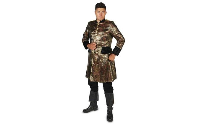 Royal Brocade Renassiance Pirate Coat Adult Costume