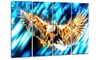 Soaring Eagle Metal Wall Art 48x28 4 Panels