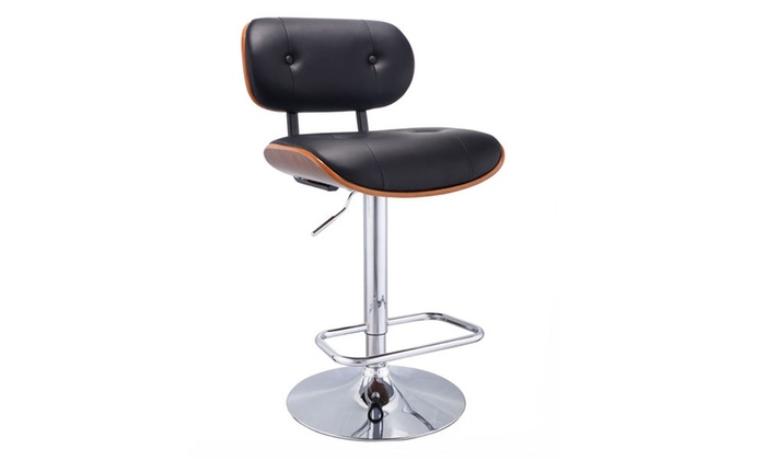 Peachy Adjustable Swivel Bentwood Bar Stool Pu Leather Tufted Pabps2019 Chair Design Images Pabps2019Com