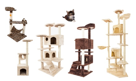 Pet House Sisal Cat Climb Scratching Holder Cat Tree Kitten Tower Multi-Size Was: $50 Now: $26.99.