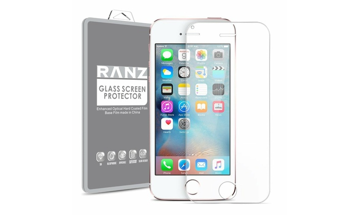 4e03d632260 2 Pack iPhone SE/ iPhone 5S/ iPhone 5 Tempered Glass HD Clear Screen  Protector 2 Pack iPhone SE