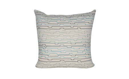 "Loom and Mill Home Decor 22""x22"" Cream Digital Lines Decorative Pillow c8e4d93c-4d13-4797-a120-2ed9a37775fb"