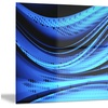 Blue and Black Transition Metal Wall Art 28x12