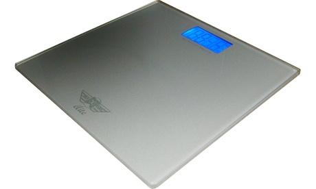 My Weigh SCMELITES One-Step Elite Digital Glass Bathroom Scale (Silver)