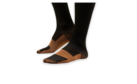3, 5 or 10 Pack of New Swelling Copper Compression Socks 5f1ef1b0-ac8b-4124-9645-478753f8aa97