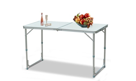 4Ft Outdoor Adjustable Aluminum Camping Picnic BBQ Party Folding Table Was: $56 Now: $19.99.