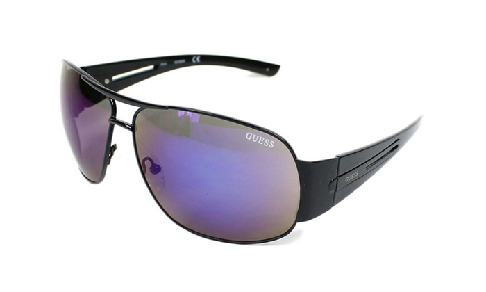 GUESS GF0143 01X Black Frame / Grey Purple Mirrored Lenses