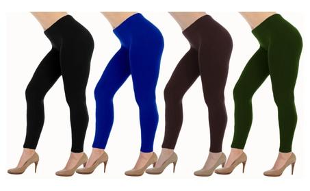 Plus Size Slimming Super Stretch Seamless Leggings 4-Pack (5007) b3148f73-825b-4fed-9fe3-36fbe00a422b