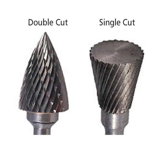 SB-7 Cylindrical End Cut Shape Carbide Burr Die Grinder Bit Double Cut