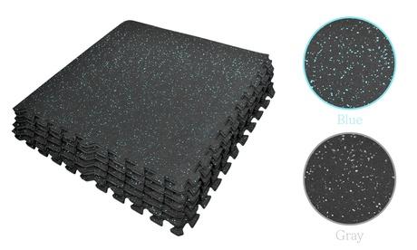 Puzzle Exercise Mat - EVA Rubber Foam Interlocking Tiles Gym Protective Flooring