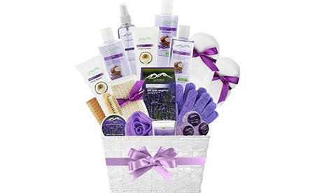 Lavender Spa Kit Bed Body & Bath Gift Baskets Bubble Bath Body Lotion Set