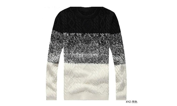Men Winter Round Neck Casual Knitting  Sweaters