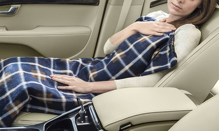 Electric 12V Heated Fleece Blanket For Cars
